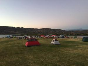 Quite a few tents up the night before the event.